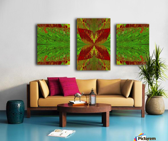 Butterfly in Crystal 5 Canvas print