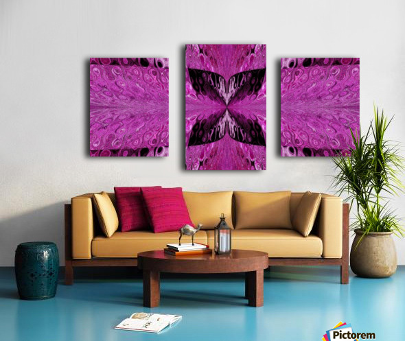 Butterfly in Crystal 9 Canvas print