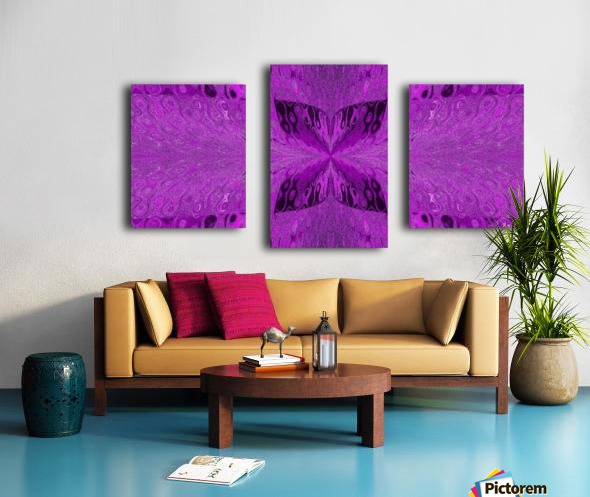 Butterfly in Crystal 19 Canvas print