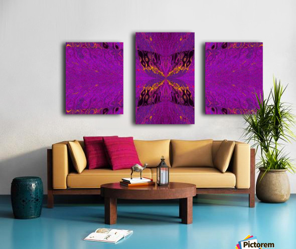 Butterfly in Crystal 37 Canvas print