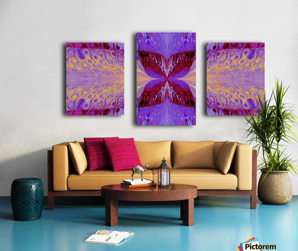 Butterfly in Crystal 46 Canvas print