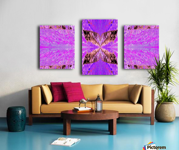 Butterfly in Crystal 49 Canvas print