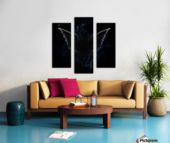 Outline of Winged Creature Canvas print
