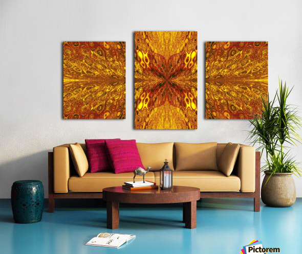 Butterfly in Crystal 59 Canvas print