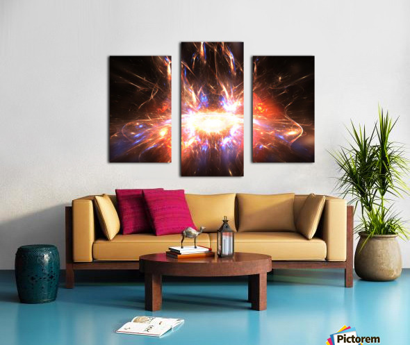 Angry galaxy e Canvas print