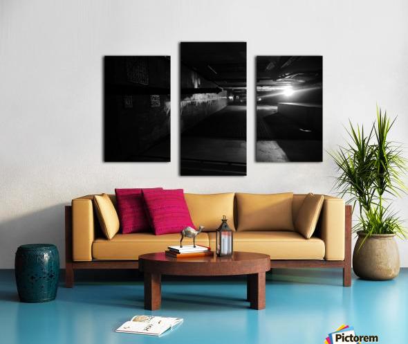 Dark alley Canvas print