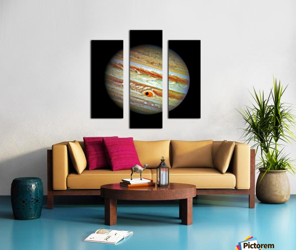 Jupiter with Ganymede Outer Space Image Canvas print