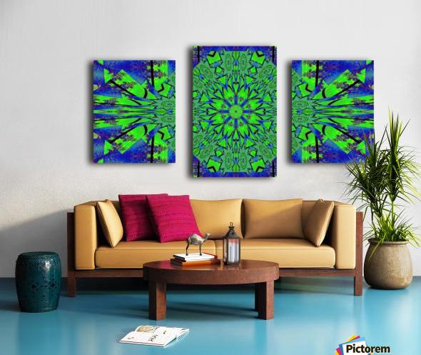 Dahlia in Green Canvas print
