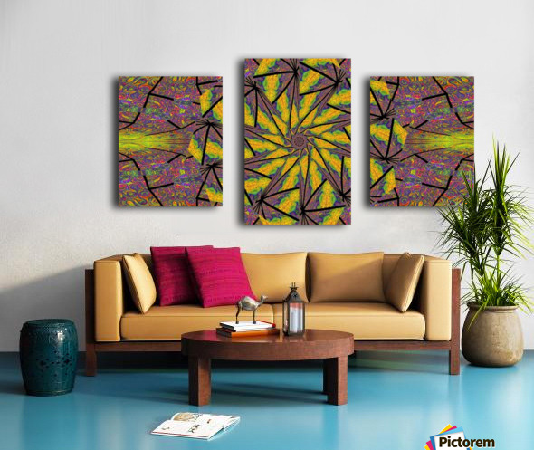 Green Dahlia 3 Canvas print