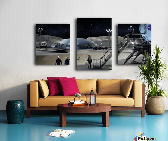 Moon Base 2 Canvas print