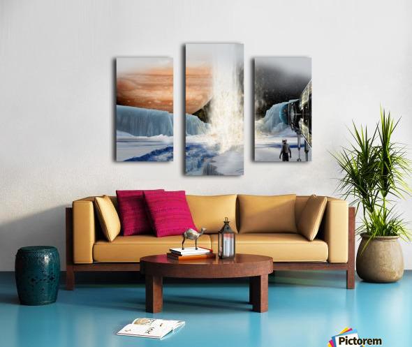 Geyser on Europa Canvas print