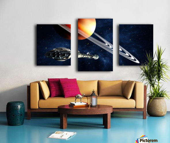 Saturn Fly-By Canvas print