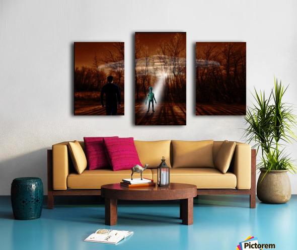 Dark Encounter Canvas print