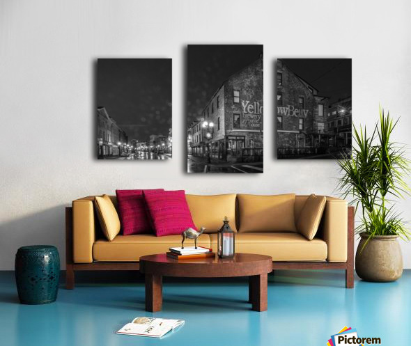 Rain Drizzle and Beer Canvas print