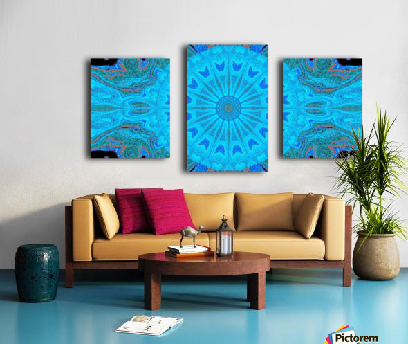 Blue Wildflower in Light Canvas print