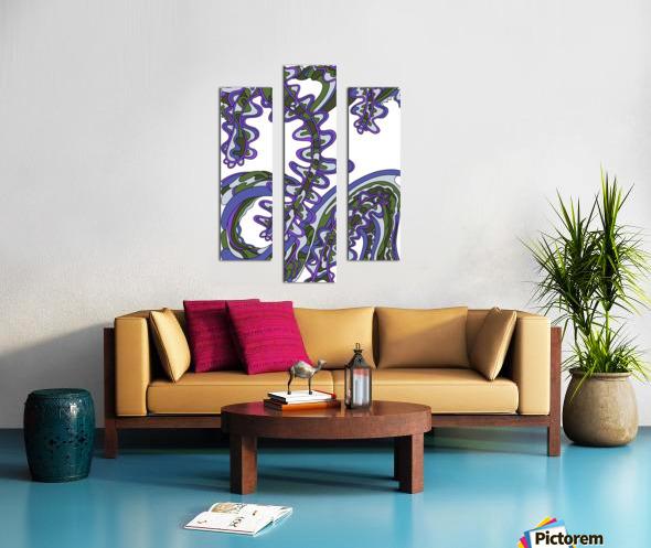 Wandering Abstract Line Art 07: Purple Canvas print