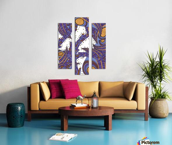 Wandering Abstract Line Art 10: Purple Canvas print