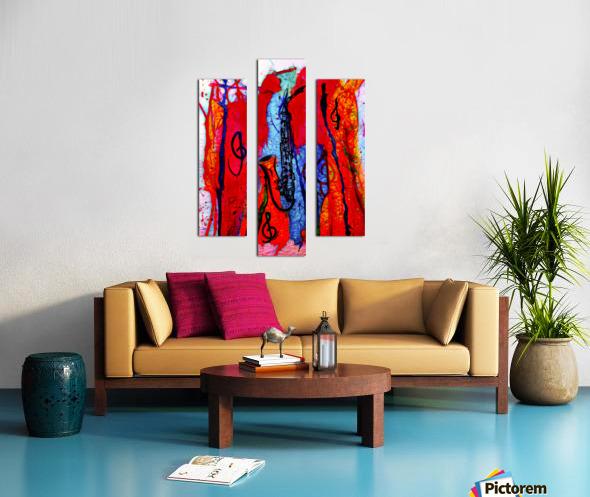 Saxophone Electrified Canvas print