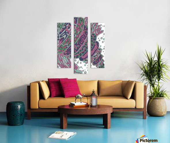 Wandering Abstract Line Art 11: Pink Canvas print