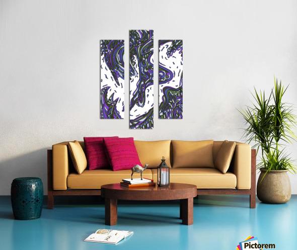 Wandering Abstract Line Art 14: Purple Canvas print