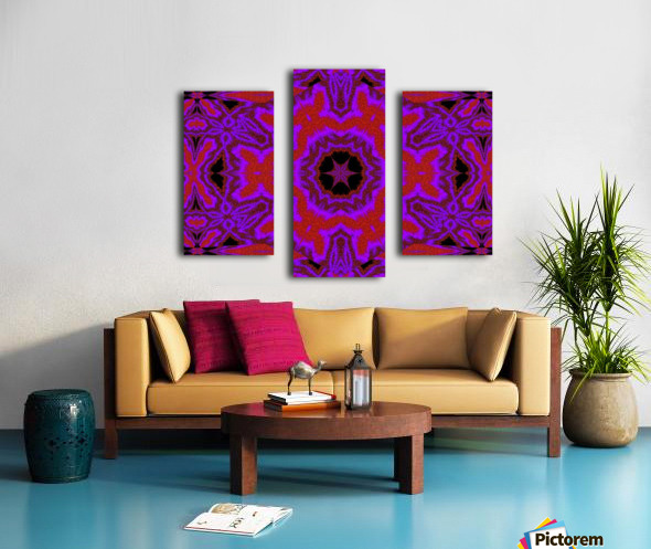 Purple Wind Flower 3 Canvas print