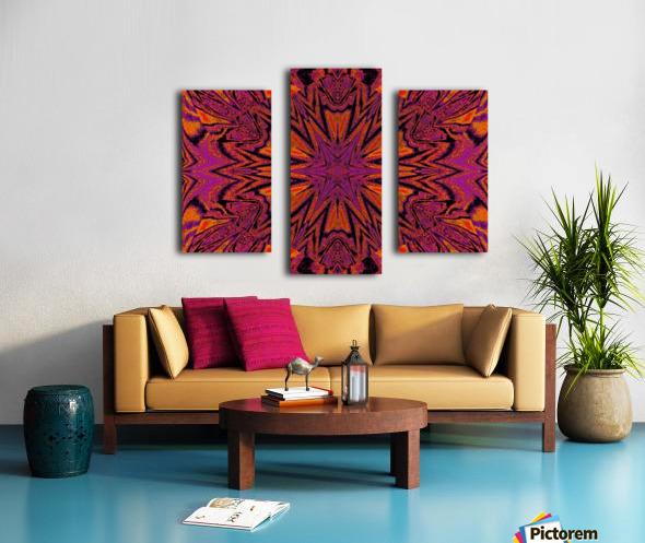 Velvet Spring Flower Canvas print