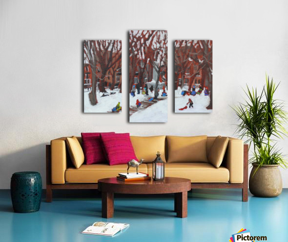 Park LaFontaine Tobogganing Canvas print