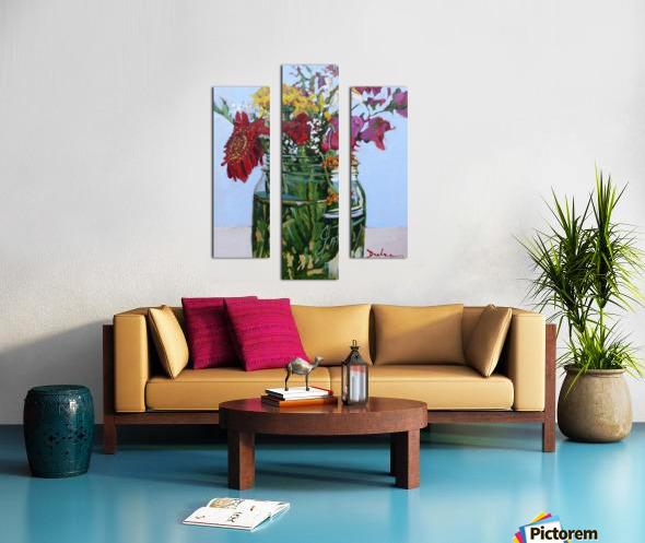 Flowers in a Mason Jar Canvas print