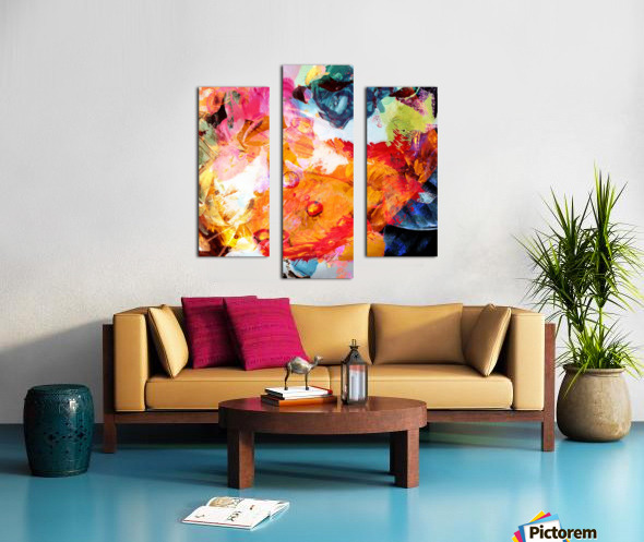 Golden Flame Canvas print