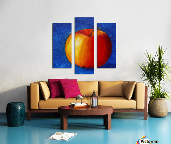 Red Apple - Still Life Painting Canvas print