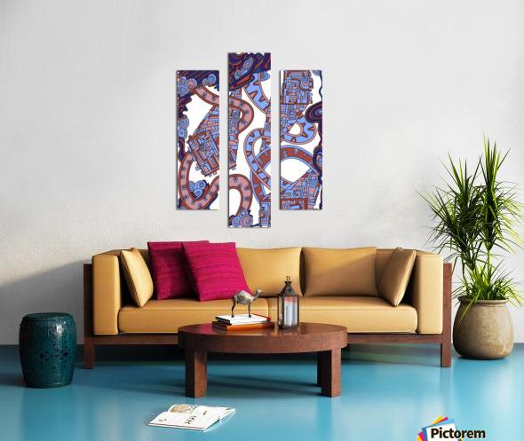 Wandering Abstract Line Art 24: Orange Canvas print