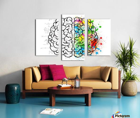 brain mind psychology idea drawing Canvas print