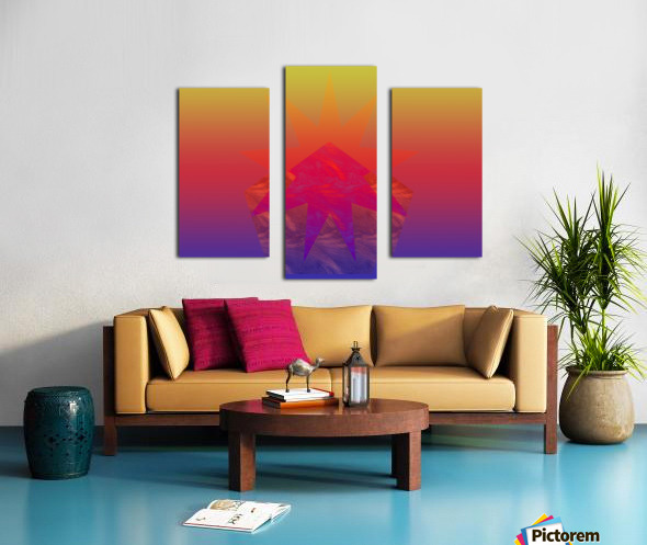 Polygon & Star V4 Canvas print