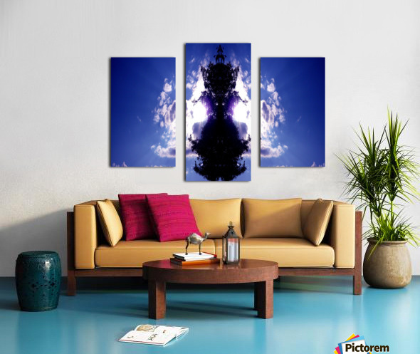 blue 2 Canvas print
