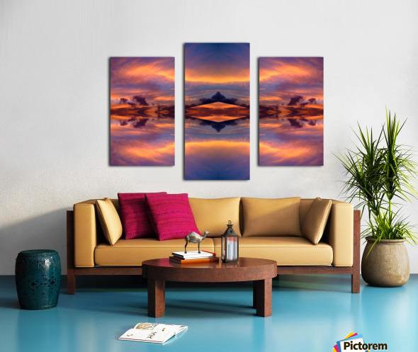 blue 7 Canvas print