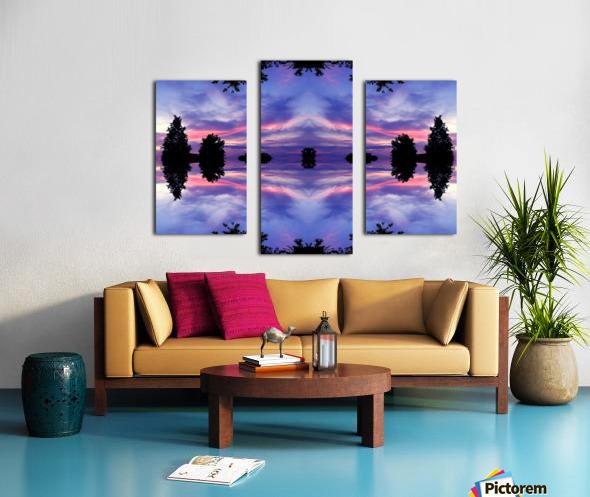 blue 11 Canvas print