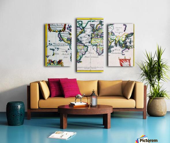 Ancient World Map 4 Canvas print