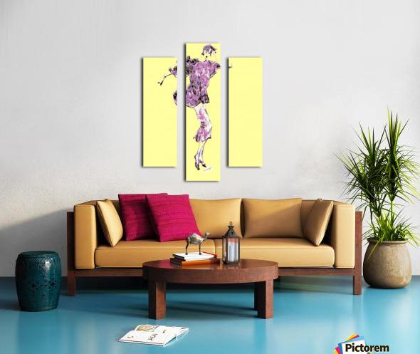 1980's Fashion on Yellow Canvas print