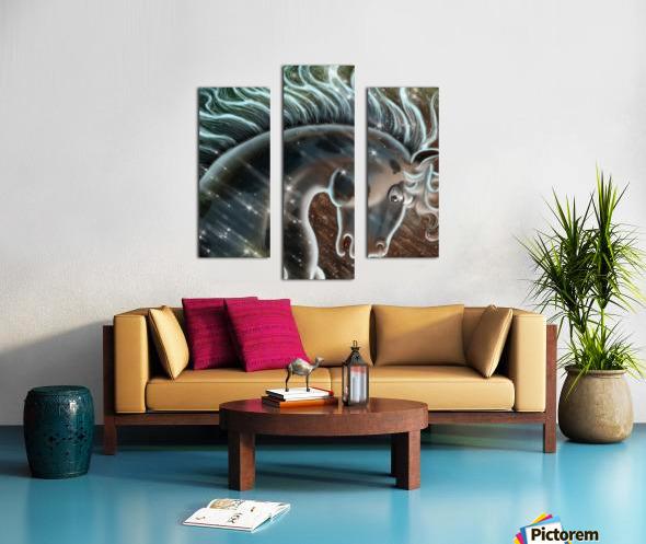 horse nature stallion equestrian Canvas print