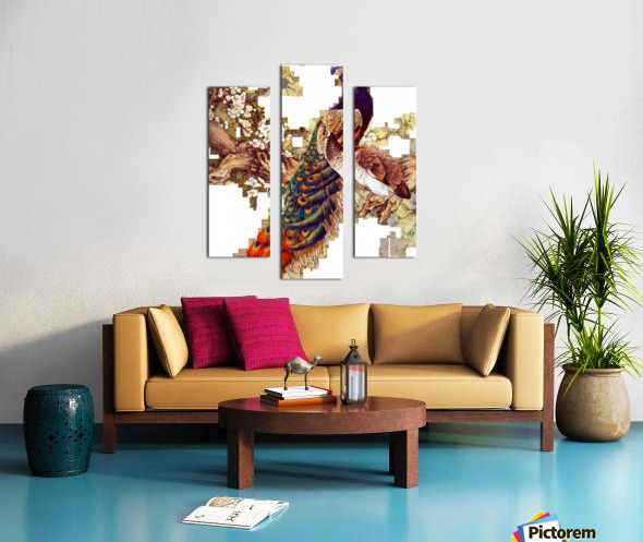 china peafowl glass feather peacock Canvas print