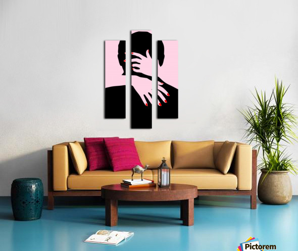 poster the hands embrace love Canvas print
