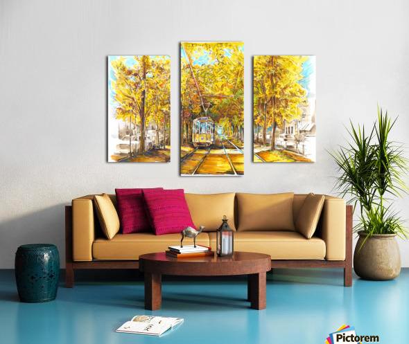Autumn_Blues Canvas print