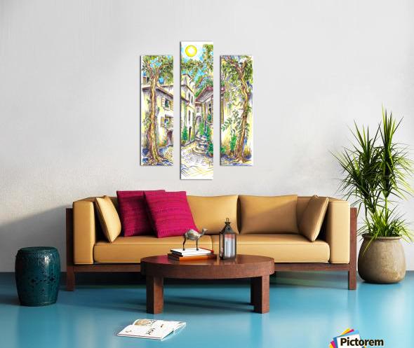 Siesta_Italiana Canvas print