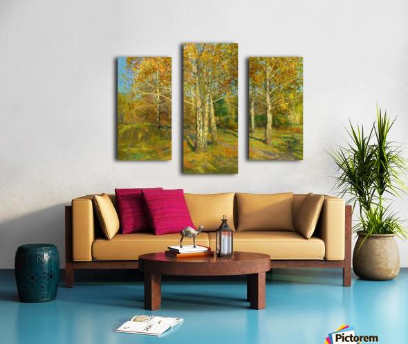 Birch_Trees_In_Tsaritsyno Canvas print