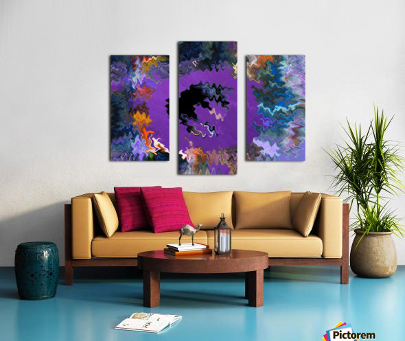 Modern art living room digital art artist Ron Malestein - 450 Canvas print