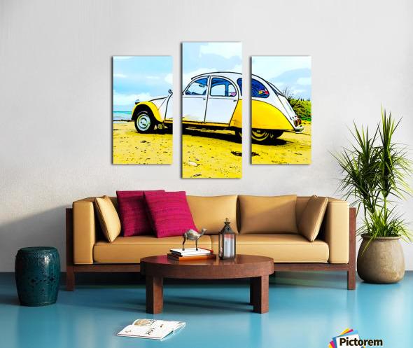 Beach Car Canvas print