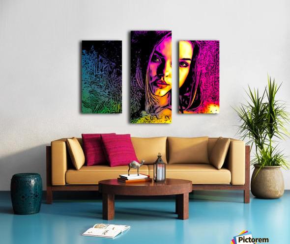 MultiColor Girl Canvas print