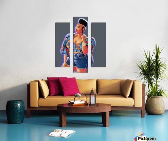 Shekel Canvas print