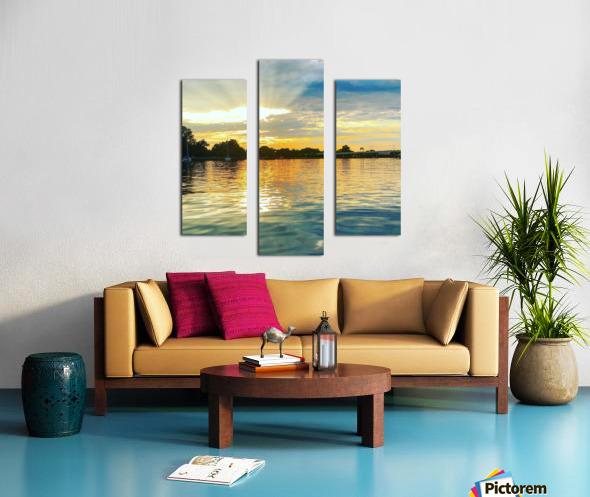 Washington Channel Sunset Canvas print