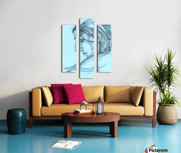 Lite blue Canvas print
